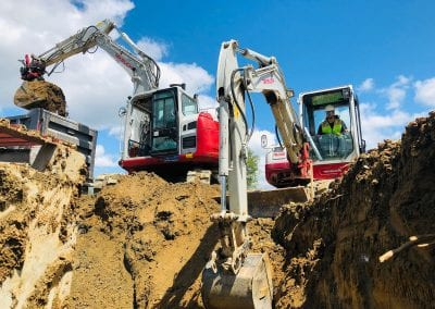 Bio Retention Pond Excavating